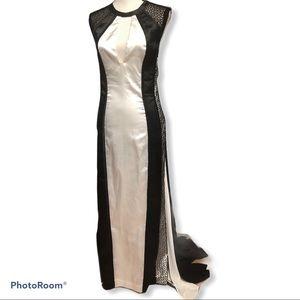 Light In The Box   Black & White Floor Gown